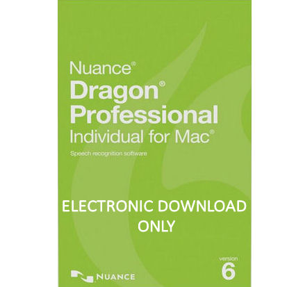 Nuance S601A-G00-6 0 Dragon Professional Individual for Mac Version